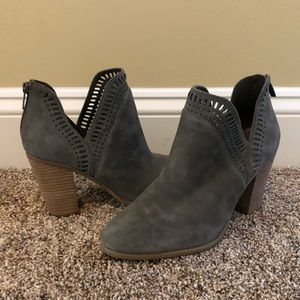 Vince Camuto Gray bootie. **never worn**